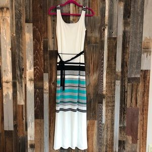 Dresses & Skirts - Ivory and Mint Striped Maxi Dress